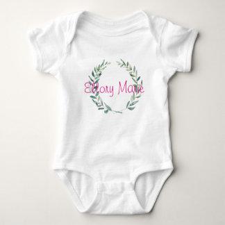 Body Para Bebé Diseño rústico de la guirnalda de la magnolia de