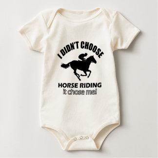 Body Para Bebé diseños de la equitación