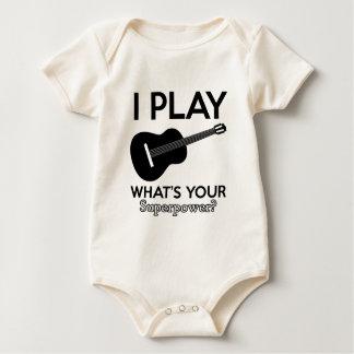 Body Para Bebé diseños reales del ukelele