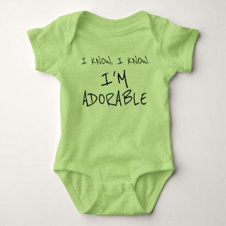 Body Para Bebé Divertido sé que soy ropa adorable del bebé