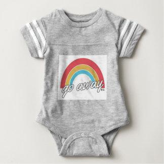 Body Para Bebé Divertido va el lema ausente del arco iris
