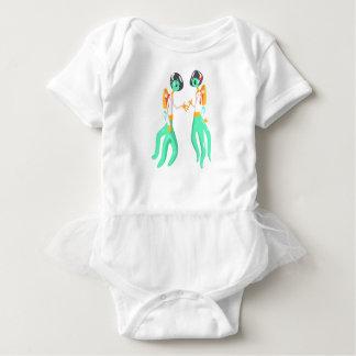 Body Para Bebé Dos seres extraterrestres verdes en juegos de