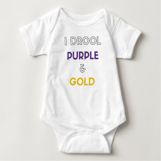 Body Para Bebé Drool púrpura y oro