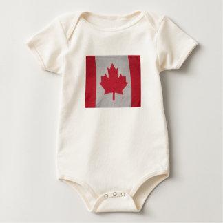 Body Para Bebé Durmiente del bebé de la bandera de Canadá
