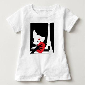 Body Para Bebé Ejemplo elegante francés de la moda de la moda