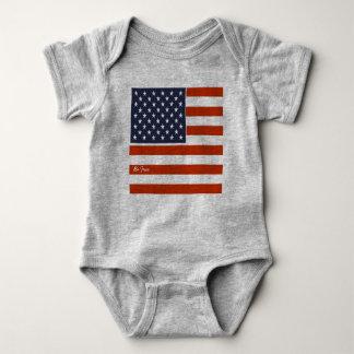 """Body Para Bebé el 4to de la bandera americana de julio """"sea"""" mono"""