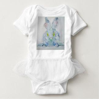 Body Para Bebé el amarillo observa el conejo