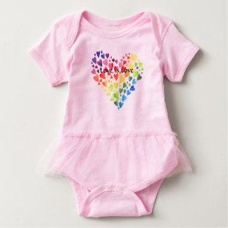 Body Para Bebé El amor es mono infantil del tutú del amor