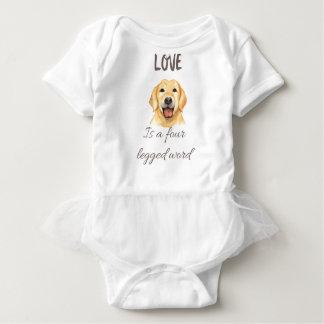 Body Para Bebé El amor es una palabra legged cuatro