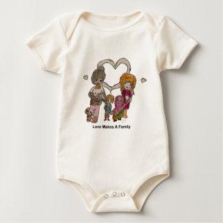 Body Para Bebé El amor hace a una familia por Ainsley