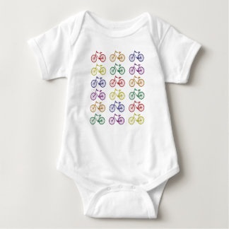 Body Para Bebé El arco iris monta en bicicleta el mono del bebé