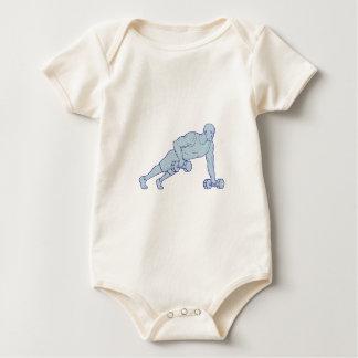 Body Para Bebé El atleta de la aptitud empuja hacia arriba un