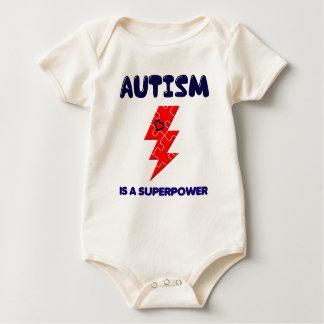 Body Para Bebé El autismo es superpotencia, mente mental de la