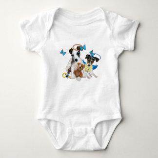 Body Para Bebé El bebé del ángel de Jack Russell Terrier embroma