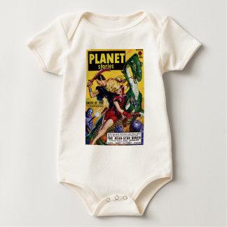 Body Para Bebé El Blonde heroico monta un dinosaurio