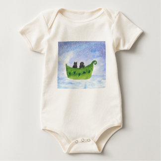 Body Para Bebé El búho y el minino