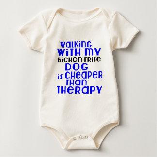 Body Para Bebé El caminar con mis diseños del perro de Bichon