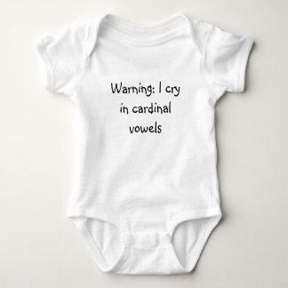 Body Para Bebé El cardenal pone vocales la enredadera