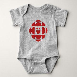 Body Para Bebé El CBC embroma rojo del logotipo el  