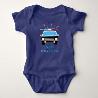 Body Para Bebé El coche policía el   personalizó al oficial de