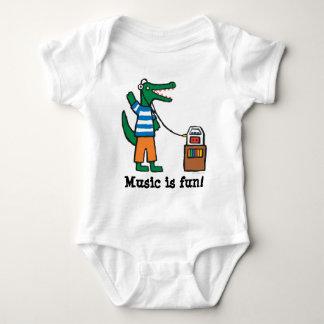 Body Para Bebé El cocodrilo fresco escucha la música
