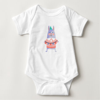 Body Para Bebé El conejo con el fiesta atribuye enrrollado