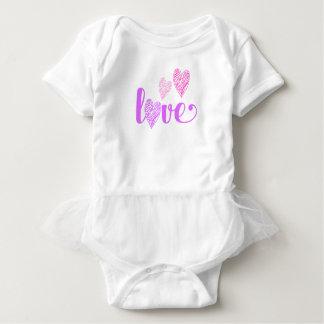 Body Para Bebé El corazón del amor garabatea el tutú del bebé de