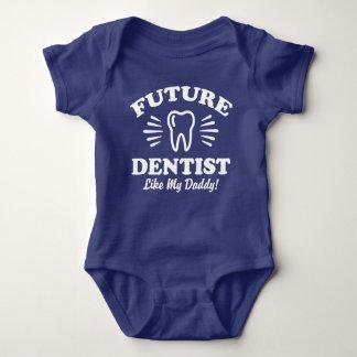 Body Para Bebé El dentista futuro tiene gusto de mi papá