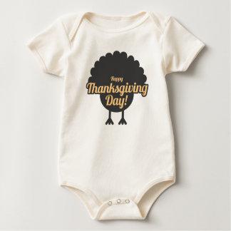 Body Para Bebé El día feliz Turquía de la acción de gracias