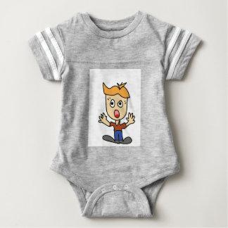 Body Para Bebé el dibujo animado asustadizo del muchacho