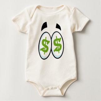 Body Para Bebé El dibujo animado de la muestra de dólar observa