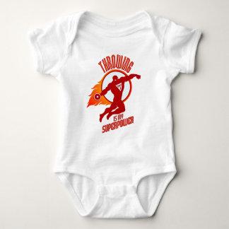 Body Para Bebé el disco que lanza es mi superpotencia