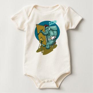 Body Para Bebé el elefante el pintor es dibujo animado divertido