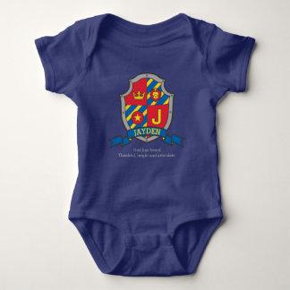 Body Para Bebé El escudo del significado del nombre de letra de