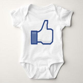Body Para Bebé ¡el facebook TIENE GUSTO de mí de manosear con los