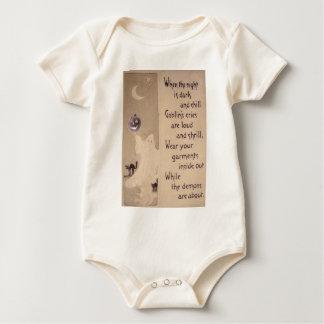 Body Para Bebé El fantasma y la calabaza (tarjeta de Halloween