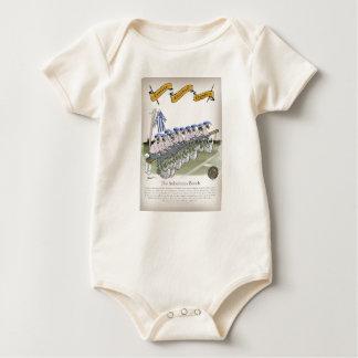 Body Para Bebé el fútbol del fútbol subs rayas blancas azules