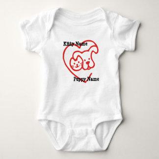 Body Para Bebé El gatito y el amor adolescente personalizan con