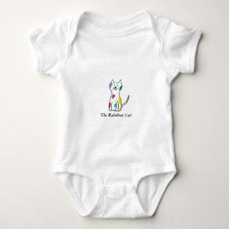 Body Para Bebé El gato del arco iris
