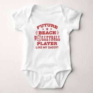 Body Para Bebé El jugador de voleibol futuro de playa tiene gusto