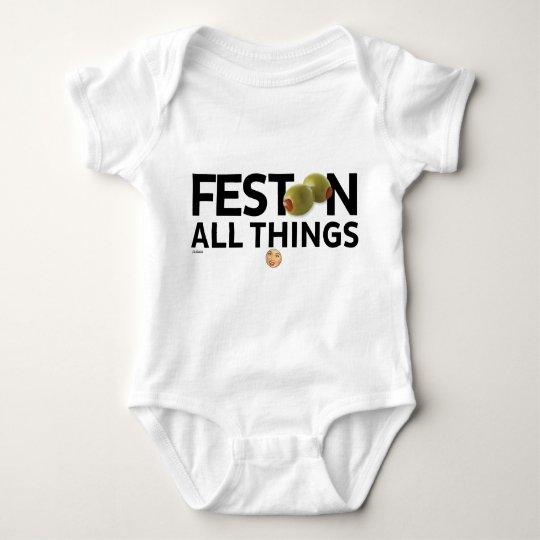 Body Para Bebé El kitsch Bitsch™: Festoon todas las cosas