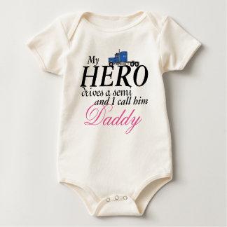 Body Para Bebé El mi héroe del papá - conductor de camión