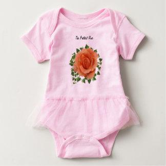 Body Para Bebé El mono color de rosa más bonito del tutú