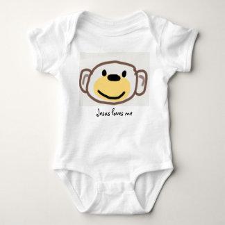 Body Para Bebé El mono, Jesús me ama