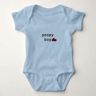 Body Para Bebé El muchacho de Poopy salta la habitación