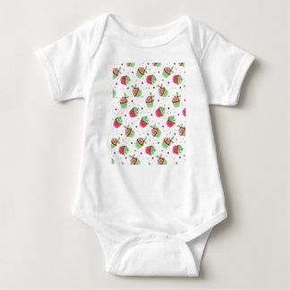 Body Para Bebé El navidad lindo y dulce coloreó las magdalenas