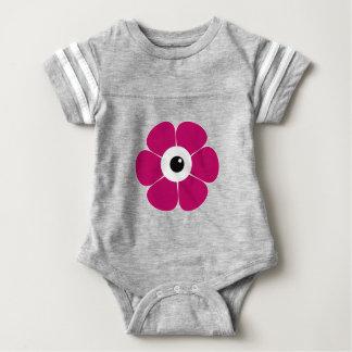 Body Para Bebé el ojo de la flor rosada