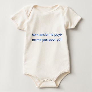 Body Para Bebé ¡El oncle de lunes yo pas del meme del paye vierte