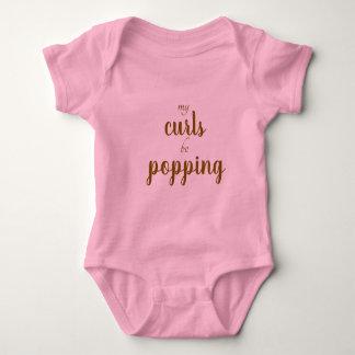 Body Para Bebé El oro rosado mis rizos esté haciendo estallar al