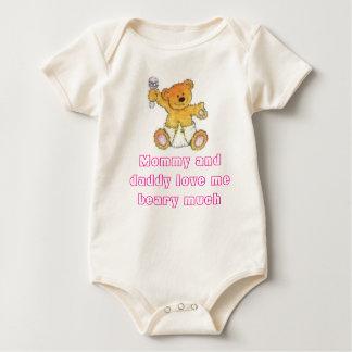 Body Para Bebé el oso, la mamá y el papá del bebé me aman beary